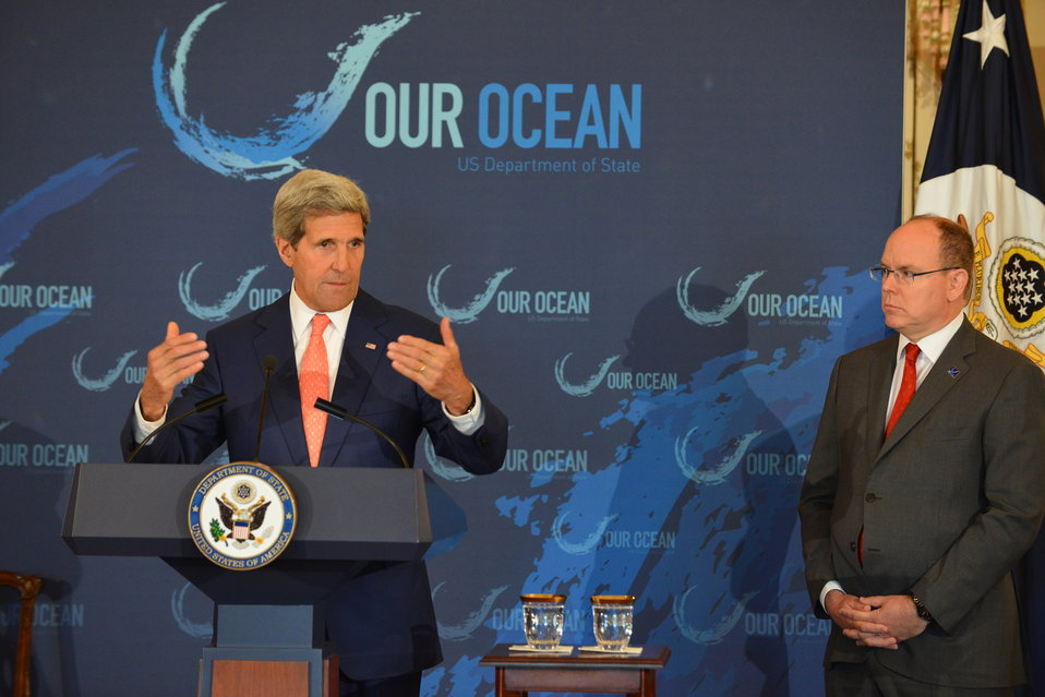 Secretary Kerry Delivers Remarks With Prince Albert II of Monaco at the 'Our Ocean' Conference Lunch Discussion