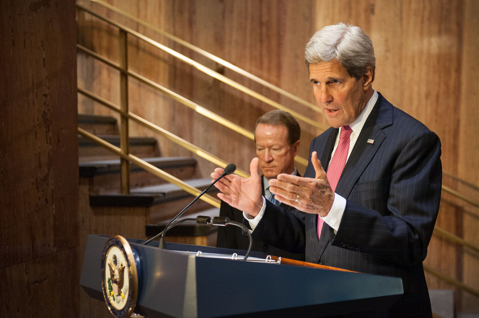Secretary Kerry Delivers Remarks at the Dedication of the Bureau of International Narcotics and Law Enforcement Affairs Memorial Wall Ceremony