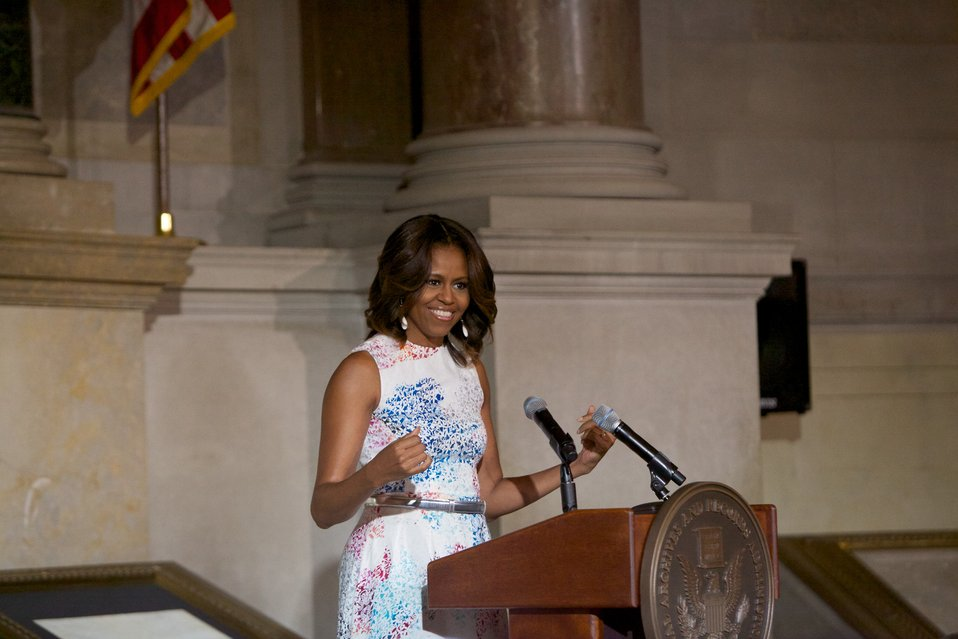 Naturalization Ceremony with Michelle Obama