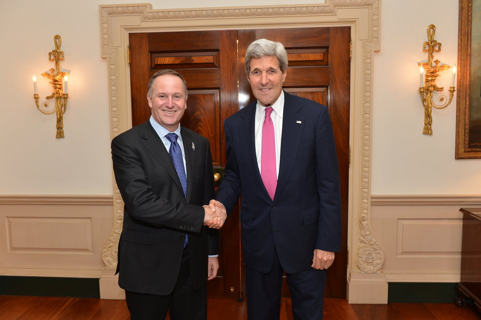 Secretary Kerry Meets With New Zealand Prime Minister Key