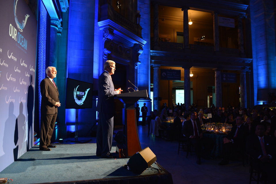 Secretary Kerry Delivers Remarks at the 'Our Ocean' Conference Evening Reception