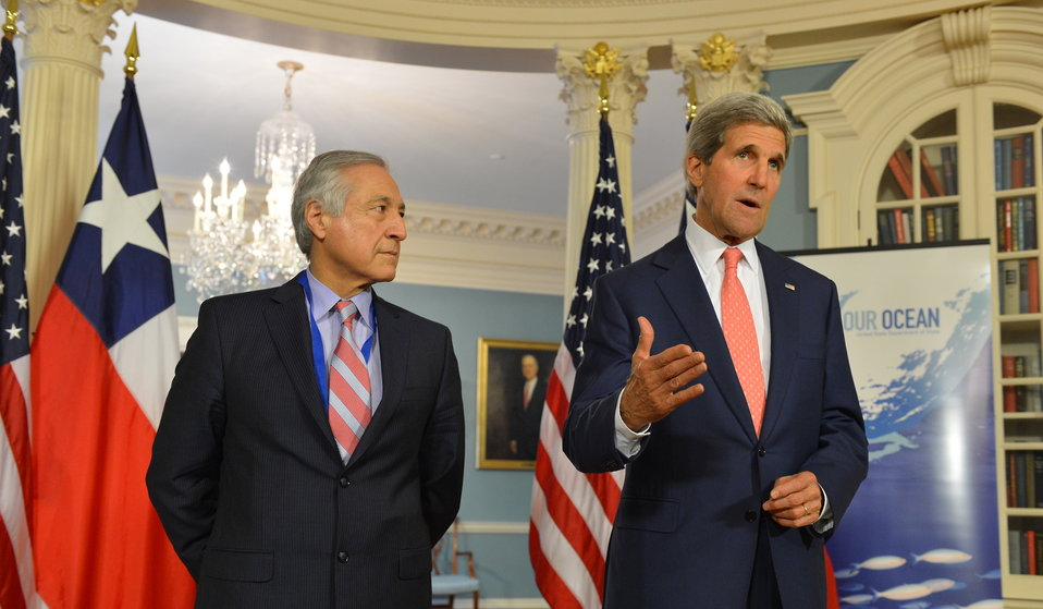 Secretary Kerry Delivers Remarks With Chilean Foreign Minister Heraldo Munoz