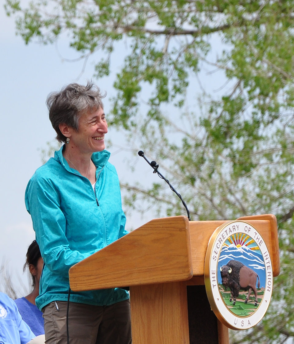 Secretary Jewell Announcing Funding for Youth Conservation Jobs