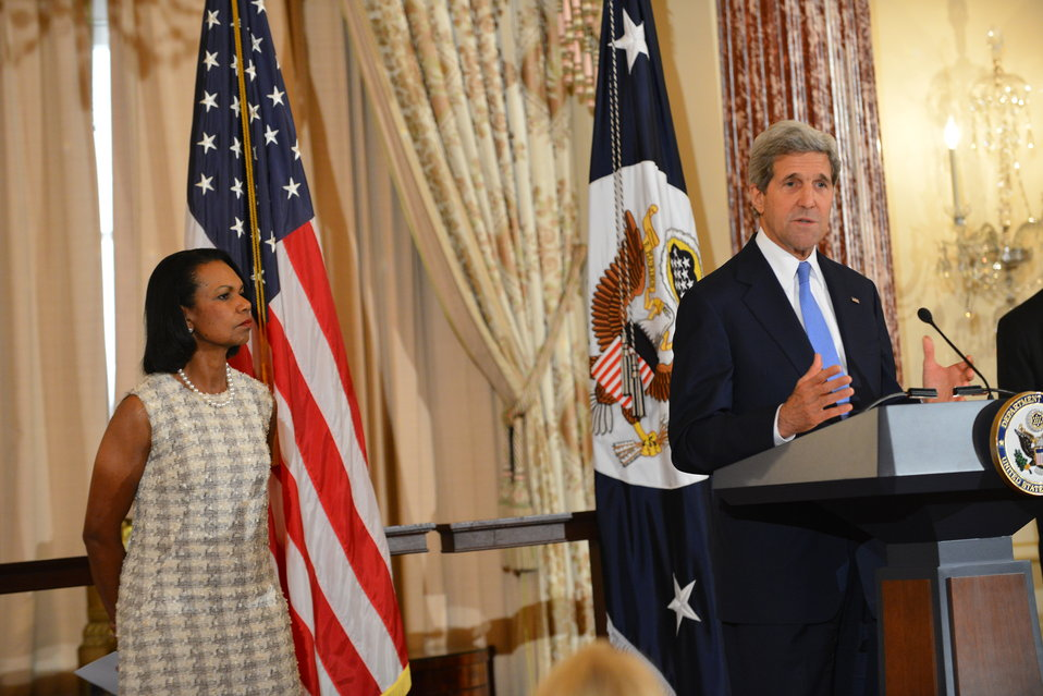 Secretary Kerry Delivers Remarks at a Portrait Unveiling Ceremony in Honor of Former Secretary Condoleezza Rice