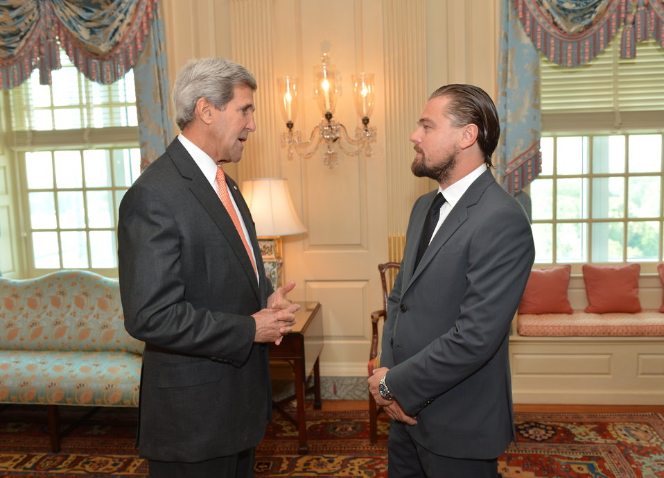 Secretary Kerry Meets With Leonardo DiCaprio