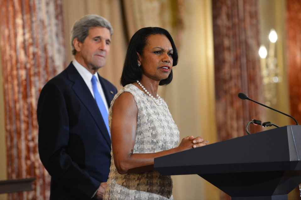 Former Secretary of State Condoleezza Rice Delivers Remarks at a Portrait Unveiling Ceremony in Her Honor