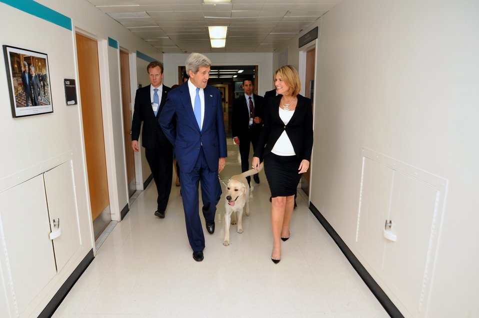 Secretary Kerry Walks Through State Department With 'Today's' Guthrie
