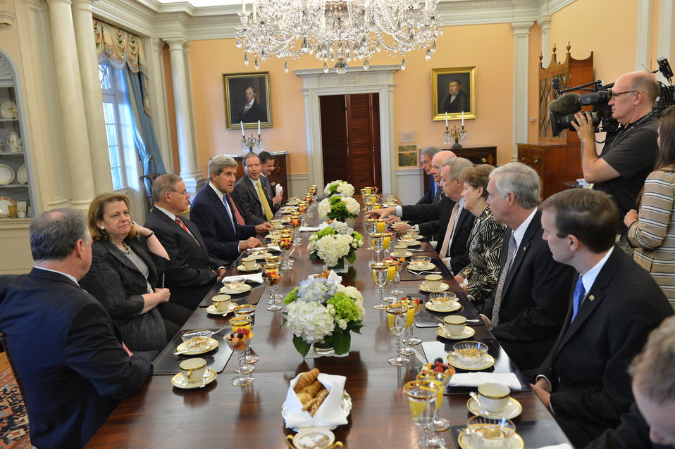 Secretary Kerry Meets With Members of the Senate Foreign Relations Committee