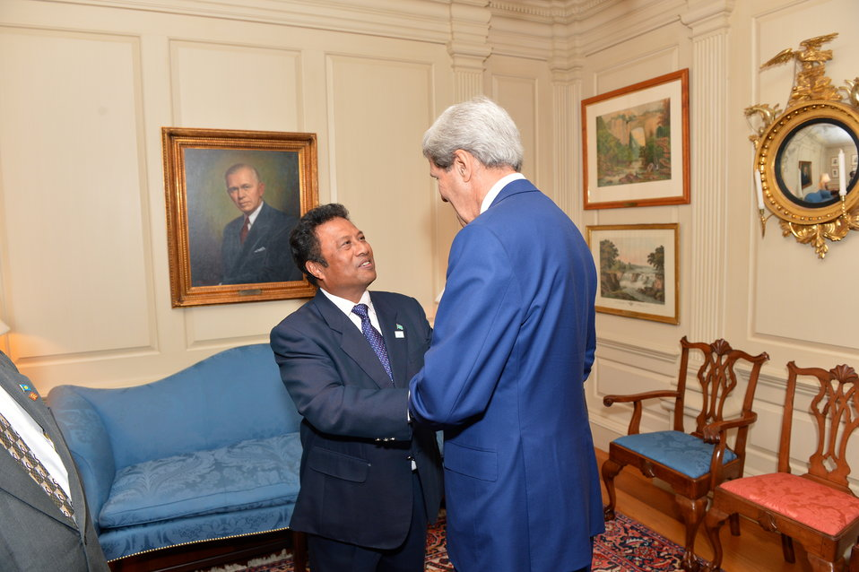 Secretary Kerry Meets With Palau President Tommy Remengesau, Jr.
