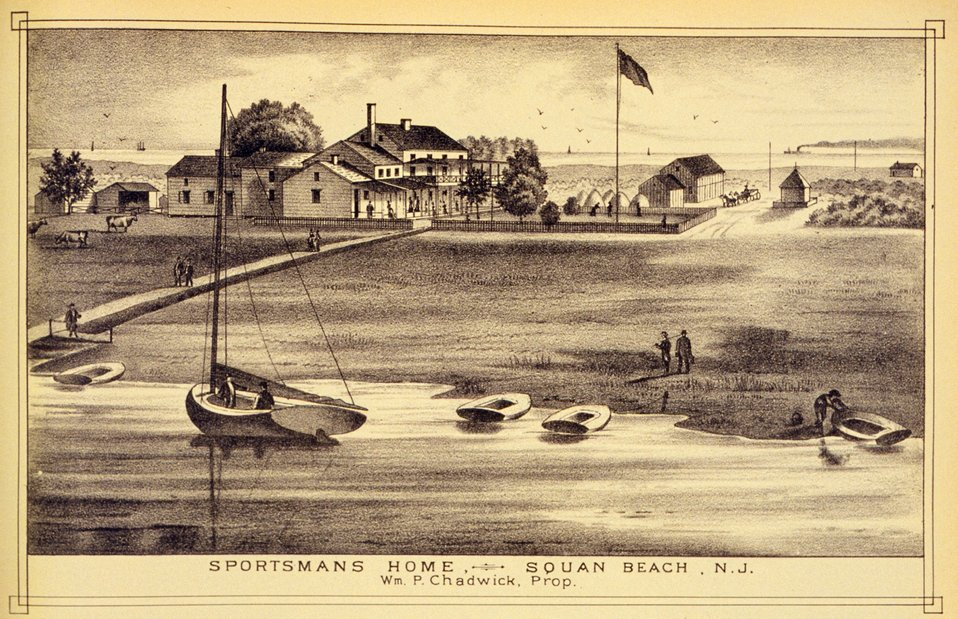 Sportsman's Home, Squan Beach, N.J.  P. 291. 'Historical and Biographical Atlas of the New Jersey Coast,' by T. F. Rose, 1878.