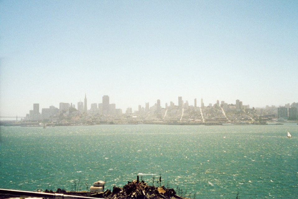 Looking towards San Francisco from Alcatraz.