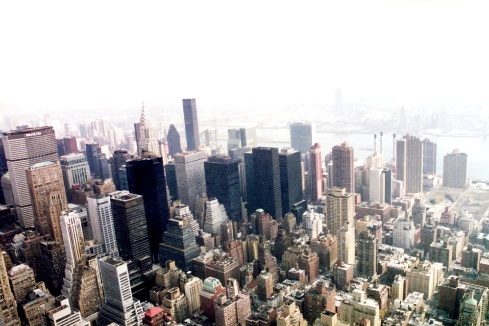 New York skyline from above.