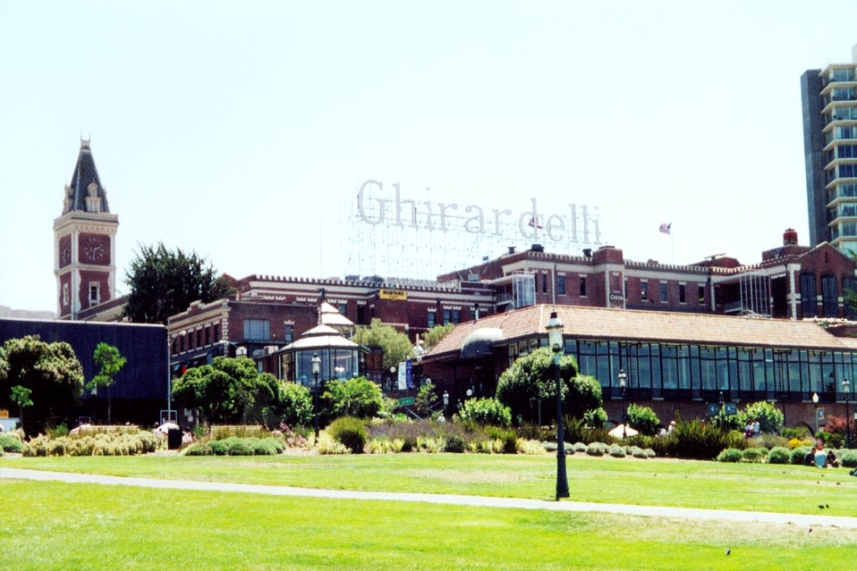 Ghirardelli Square, home of famous chocolate.