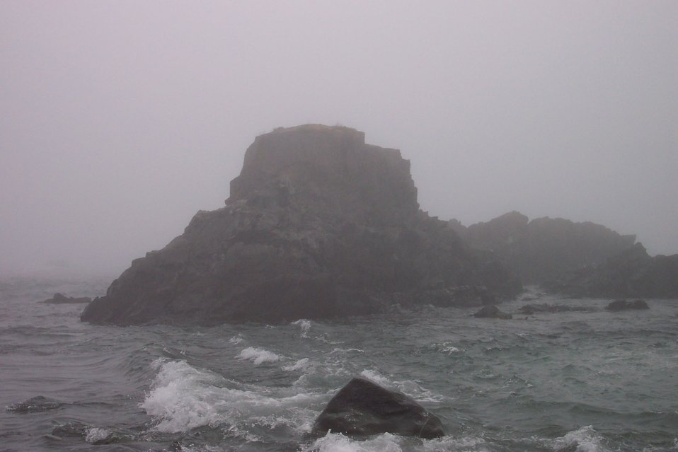 Sail Rock, just offshore from West Quoddy Head.