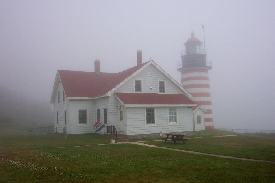 West Quoddy Head Lighthouse, the easternmost point in the contiguous United States.