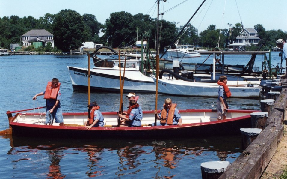 Sea Scouts dock at the Shadyside Blessing of the Fleet.