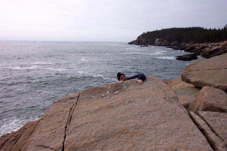 You have to watch your step along the cliffs of Acadia National Park.