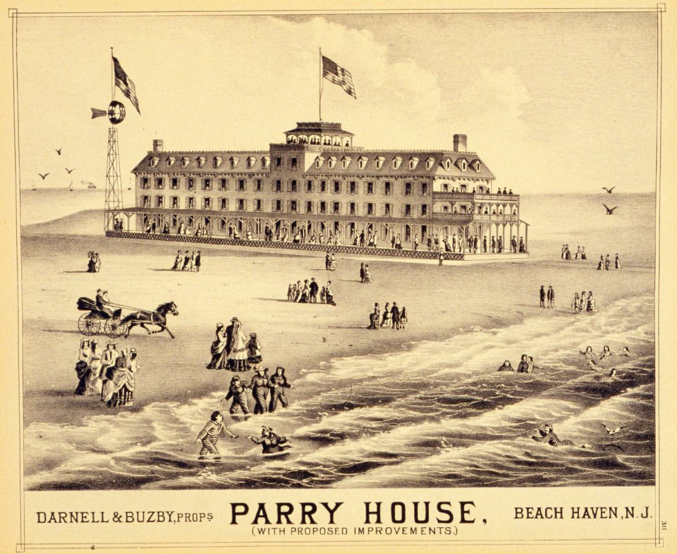 Parry House, Beach Haven, N.J.  P. 311. 'Historical and Biographical Atlas of the New Jersey Coast,' by T. F. Rose, 1878.