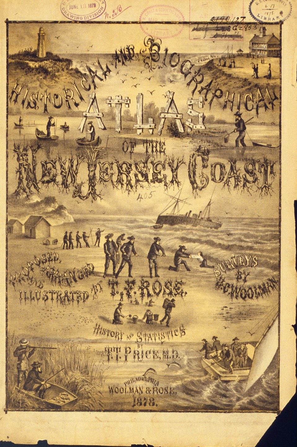 Cover of 'Historical and Biographical Atlas of the New Jersey Coast.'