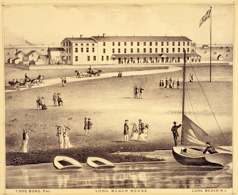 Long Beach House, Long Beach, N.J.  P. 315. 'Historical and Biographical Atlas of the New Jersey Coast,' by T. F. Rose, 1878.