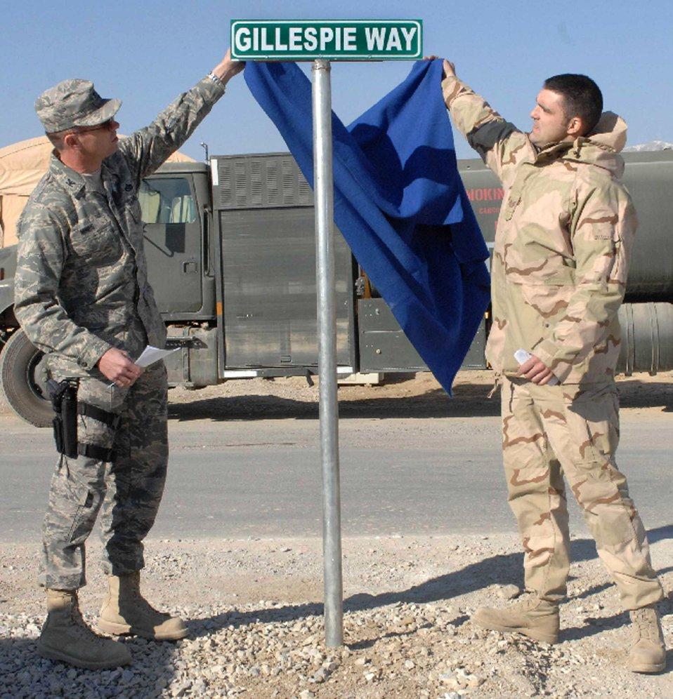 Airmen honor fallen comrade