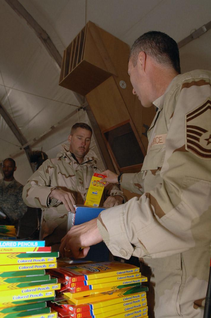 Iraqi Operation Child donations packed, ready