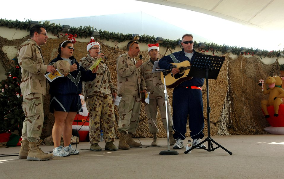 Deployed Airmen enjoy holidays