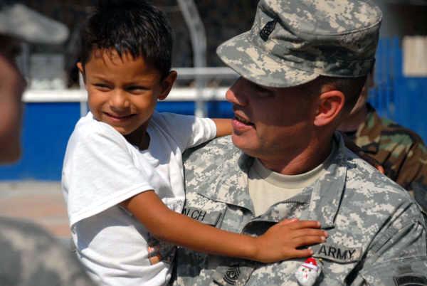 Commander brings holiday cheer to Ecuadorian schools