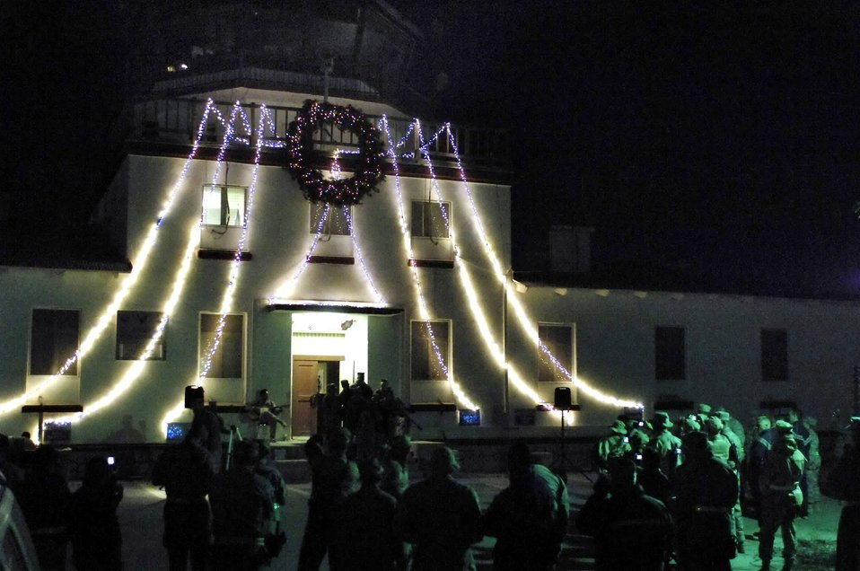 Airmen light up Afghanistan camp with holiday cheer