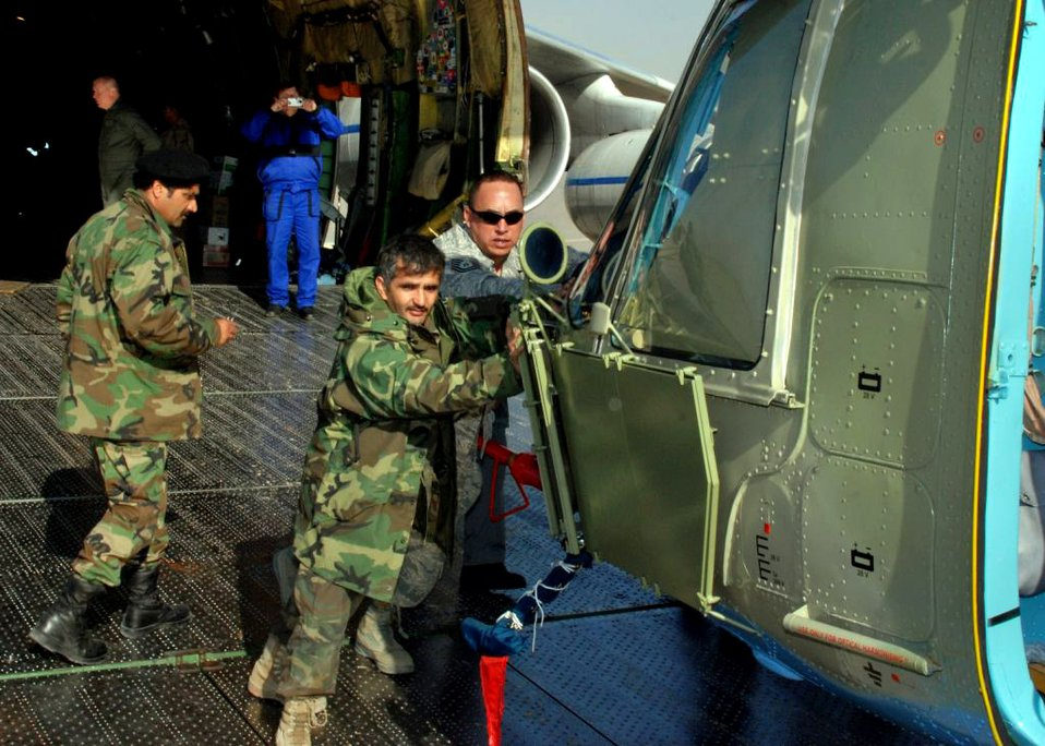 Airmen help deliver helicopters to Afghan military