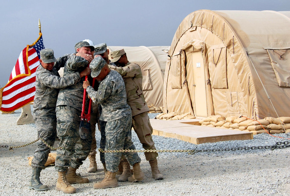 Downrange Air Force convoy support center opens