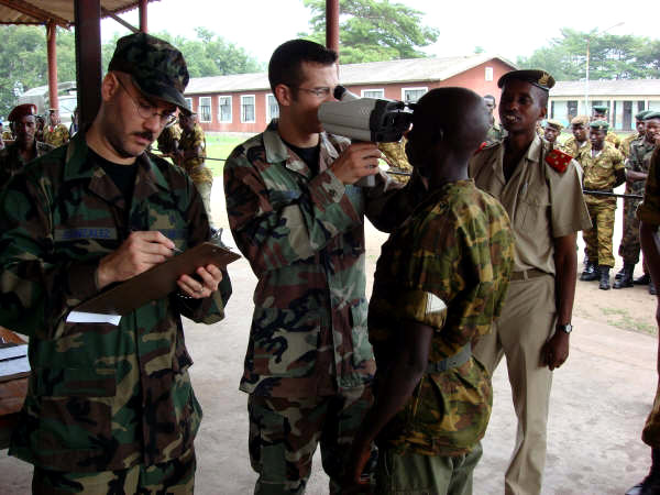 Airmen provide optometry care to deploying African troops