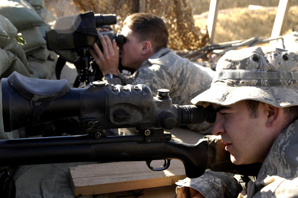 Air Force sharpshooters provide extra eyes outside the wire