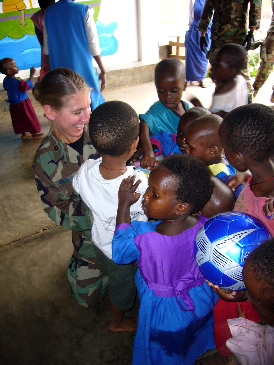Airmen deliver donations to Rwandan orphanage