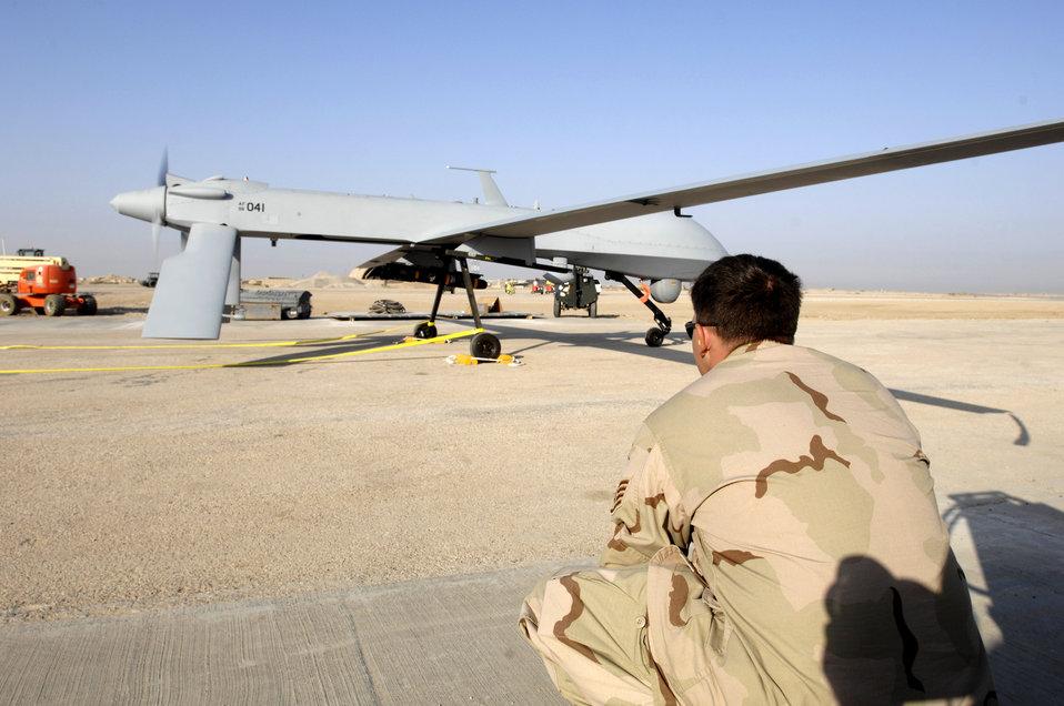 Predator test flight at Ali Air Base