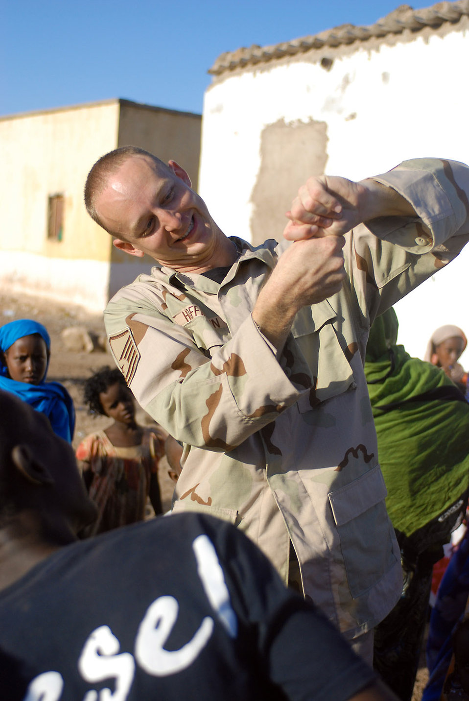 Airmen, Marines team up for Djibouti humanitarian mission