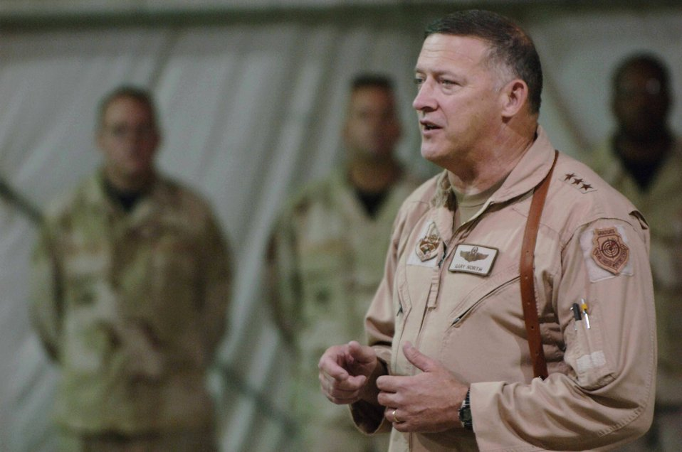 CENTAF commander meets with U.S. troops in Afghanistan