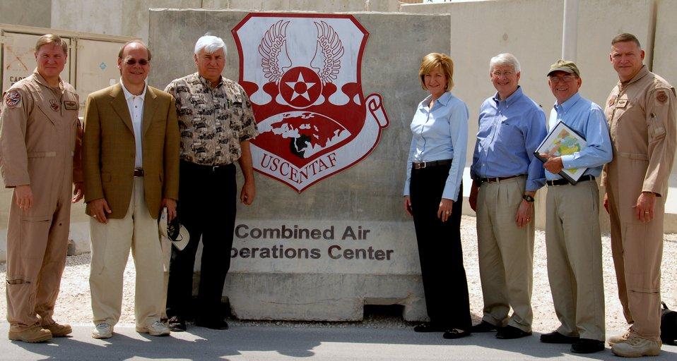 Congressional delegates visit U.S. CENTAF Airmen