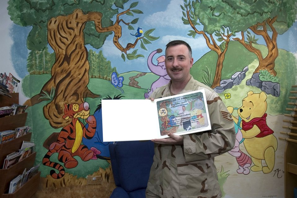 NCO puts artistic talents to work while deployed