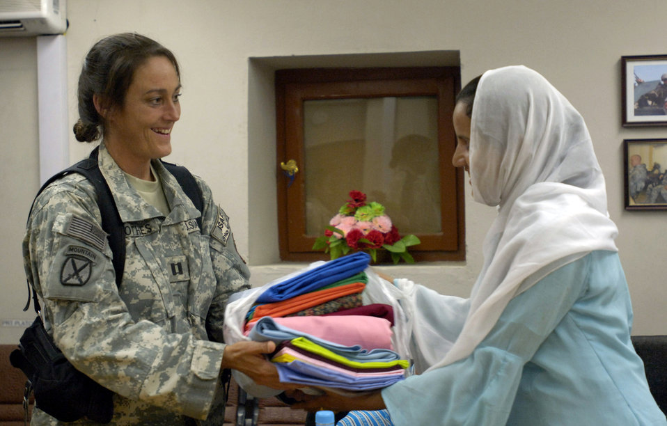 American, Afghan women join together for tea, discussion
