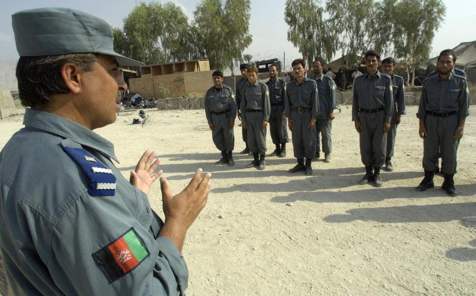 Afghans train Afghans with American mentorship