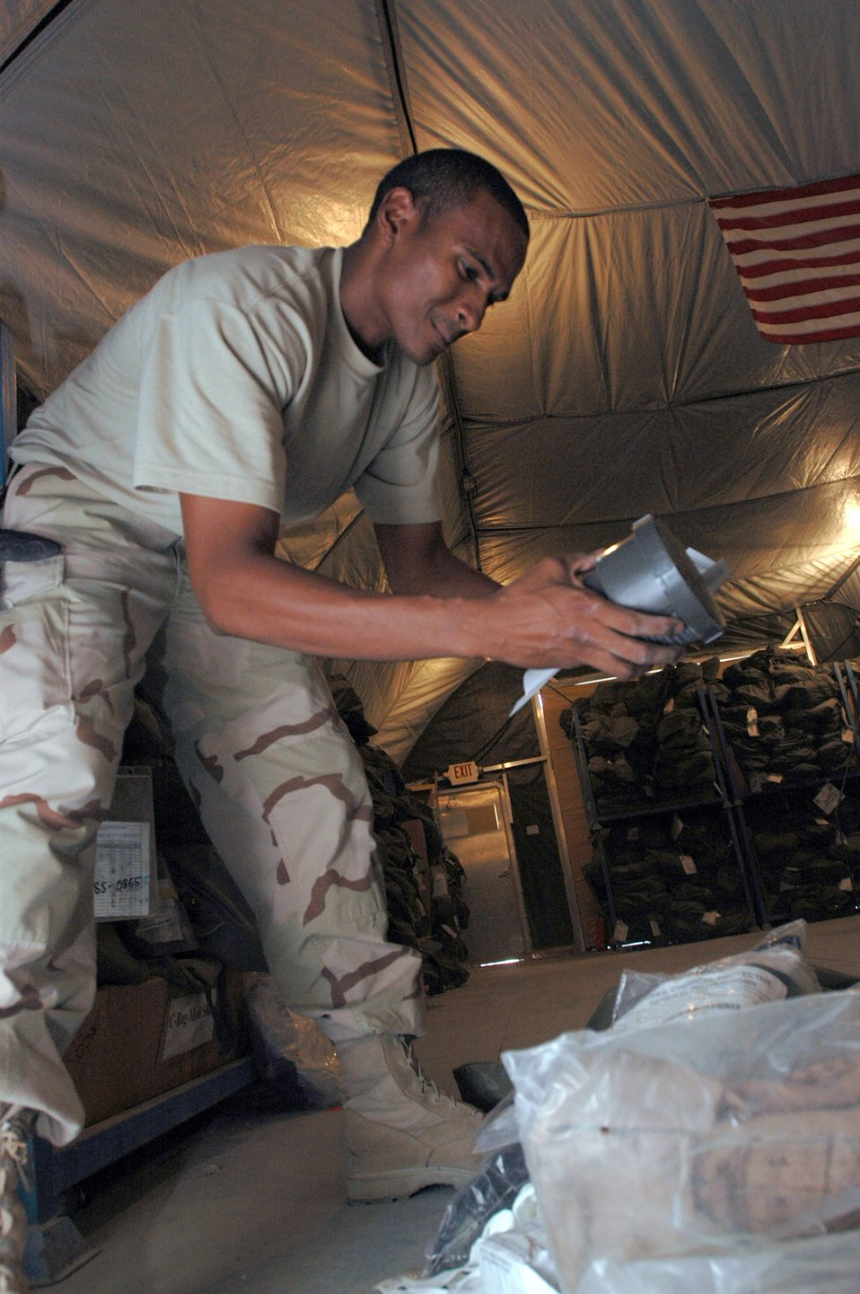 Expeditionary Theater Deployment Center equips transient Airmen