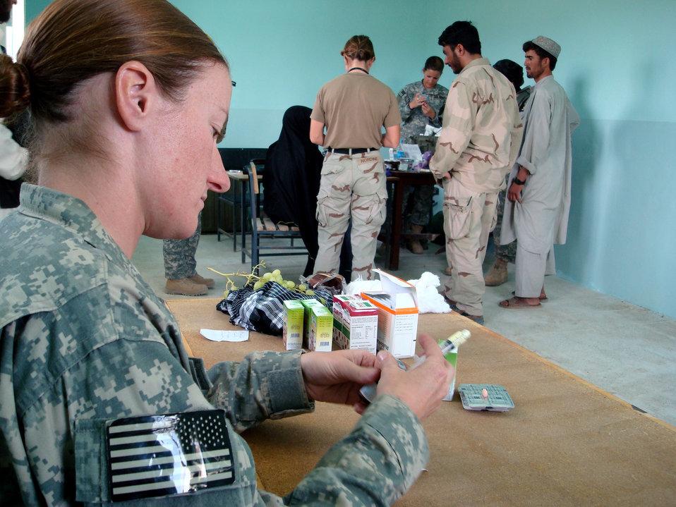 Small meds make big impact in Afghan village