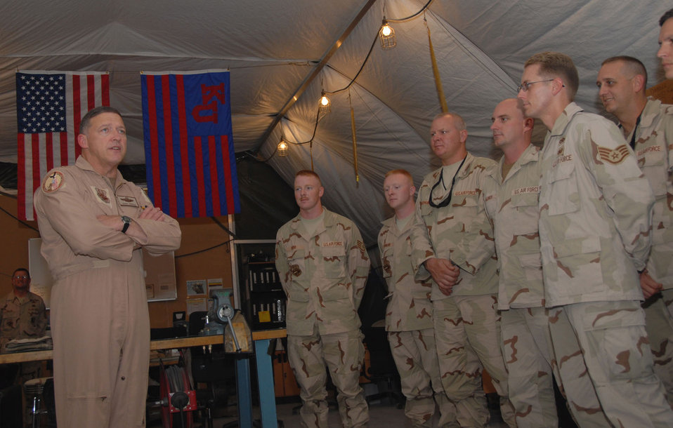 CENTAF commander visits 379th Air Expeditionary Wing