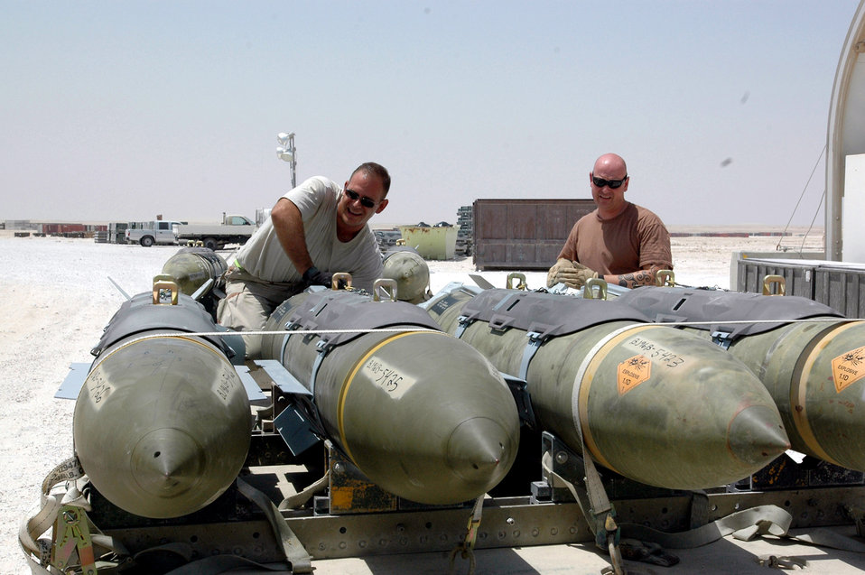 Bringing the heat: Expeditionary Airmen build bombs for the 379th