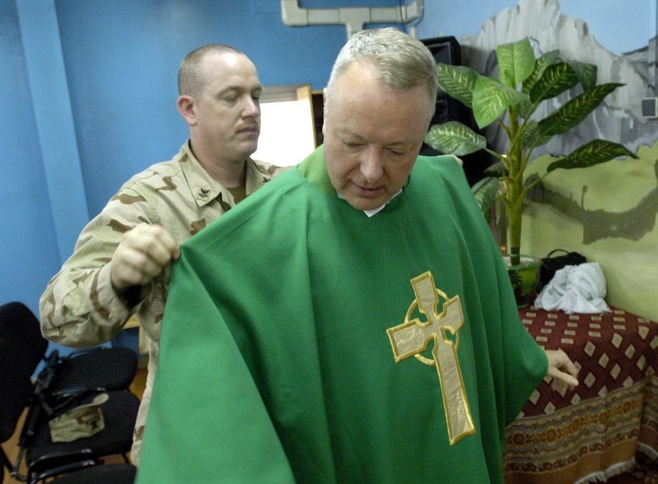 Chaplain shares faith in Afghanistan