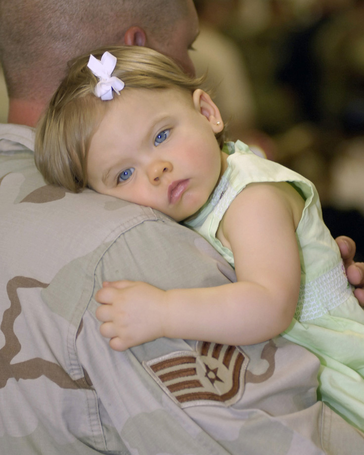 In Dad's arms