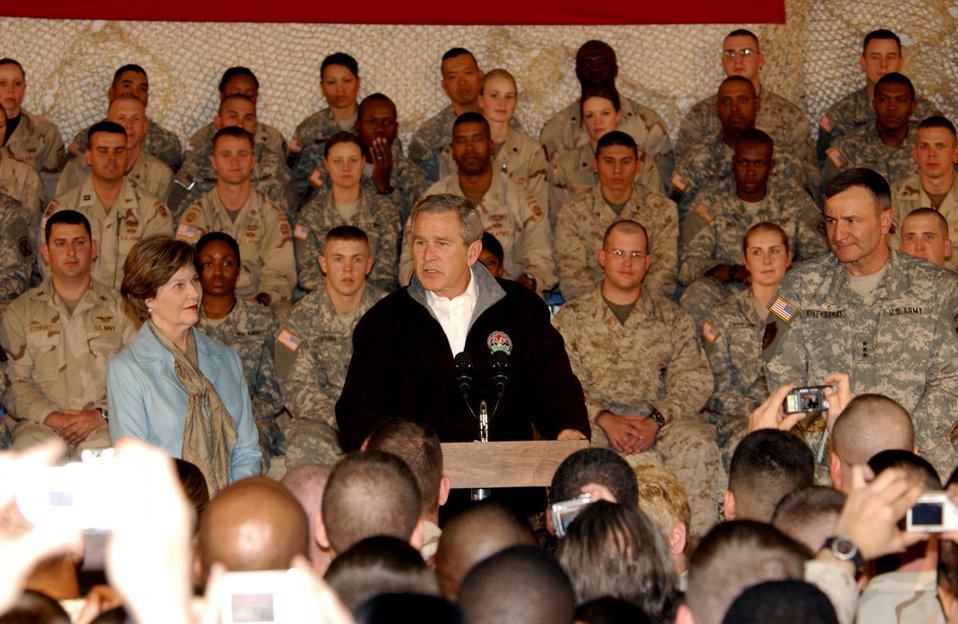 President pays surprise visit to troops in Afghanistan