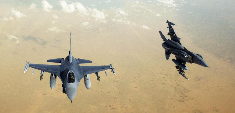 Hook-up over Baghdad