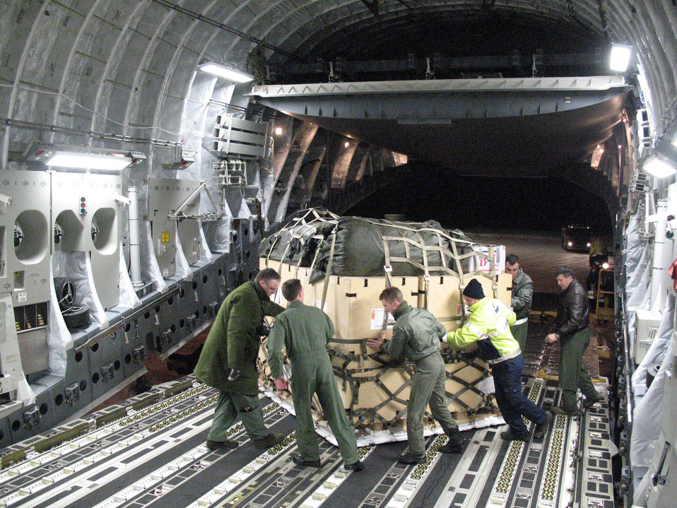 Multinational aid delivered to Haiti